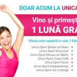 Foto: Doar ACUM la Unica Sport! Vino și primește în dar 1 lună GRATUIT