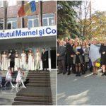 Foto: Medicii Eugeniu Gladun şi Petru Stratulat, comemoraţi la Institutul Mamei şi Copilului