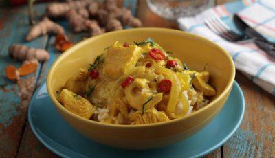 Curry din curcan și cartof