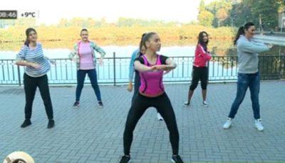 Reporteriţele de la Deşteptarea au făcut mişcare în aer liber cu instructorul Unica Sport!
