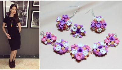 Nadejda Bejan combină perfect medicina și crearea bijuteriilor hand-made!