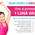 Foto: Grăbește-te! Doar 3 zile în care poți să beneficiezi de 1 lună GRATUIT la Unica Sport
