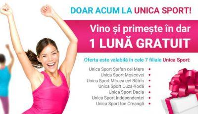 Grăbește-te! Doar 3 zile în care poți să beneficiezi de 1 lună GRATUIT la Unica Sport