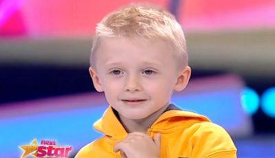 """Un băieţel de doar 5 ani a făcut senzaţie la Next Star cu piesa """"Eroina"""""""