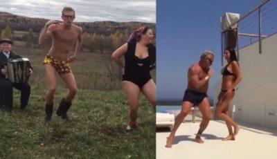 2 parodişti ruşi imită dansul miliardarului Gianluca Vacchi