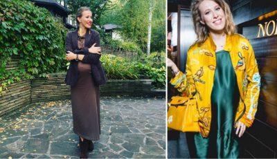 Ksenia Sobchak îşi afişează burtica de gravidă