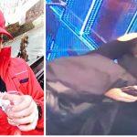 Foto: O tânără a furat geaca lui Ionel Istrati. Cine o recunoaşte?