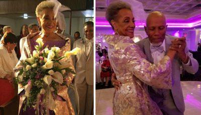 Mireasă la vârsta de 86 de ani și îmbrăcată în o rochie creată de ea