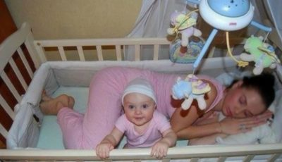 Primul an de viaţă al micuţului este fascinant! Vezi poze amuzante cu adulţi şi bebeluşii lor