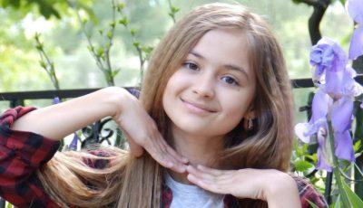 """Ea ne reprezintă la """"Golos Deti"""" din Rusia! Iuliana Beregoi:"""" Nu pot trăi fară… muzică, internet și McDonald's"""""""