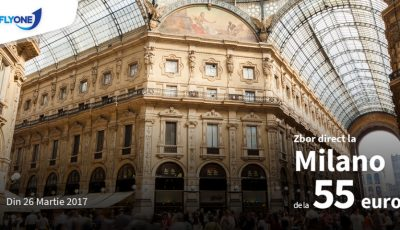 Zboară la Milano, cu Fly One, cu doar 55 euro!