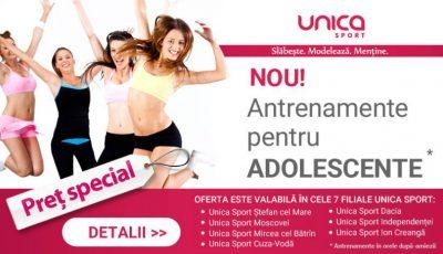NOU! Antrenamente pentru ADOLESCENTE la Unica Sport