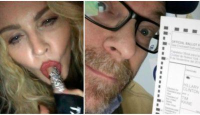 Madonna a promis că le face sex oral celor care o votează pe Hillary Clinton. Iată ce i-a răspuns unui bărbat care a făcut asta