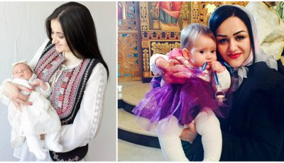 Corina Țepeș și Costi Burlacu și-au botezat fiica! Primele poze