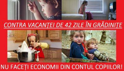 Mai mulţi părinţi semnează petiţia contra vacanţelor de 42 de zile în grădiniţe! Află detalii