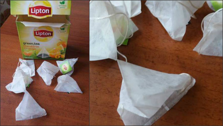 """Foto: Ceai ,,Lipton"""" fără ceai! Surpriza de care a avut parte un consumator"""