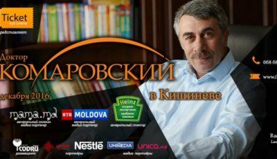 Dr. Komarovsky vine la Chişinău! Cum poţi participa la întâlnirea cu specialistul