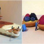 Foto: O lume a deserturilor în miniatură! Creaţiile fabuloase ale unui bucătar italian