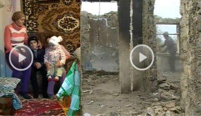 O familie cu 3 copii are nevoie urgentă de ajutor după ce casa în care locuia le-a ars în totalitate!