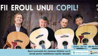 Fii eroul unui copil! Vino la concertul O seară de Folk şi ajută copiii din R. Moldova, care suferă de pe urma abuzului şi neglijării