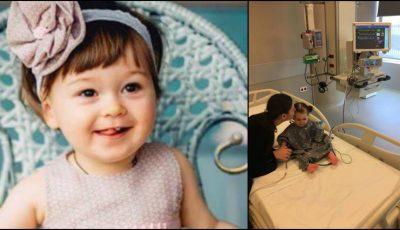 Alexandra are şanse la viaţă! Graţie donaţiilor moldovenilor, fetiţa a ajuns la clinica medicală din Turcia, pentru tratament medical specializat