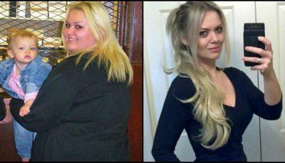 Viața ei s-a schimbat radical după ce a renunțat la vechile obiceiuri și a slăbit 60 de kg!