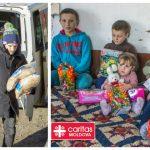 Foto: O familie cu șase copii a beneficiat de ajutor din partea unui donator din Austria!