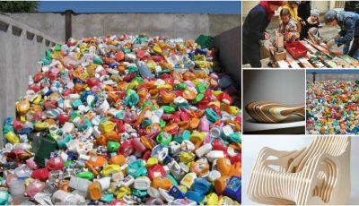 În Odessa, deșeurile de plastic se reciclează în bănci originale!