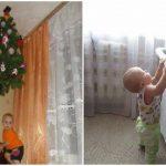 Foto: Ingeniozitate maximă! Unde pui bradul când ai copii mici în casă