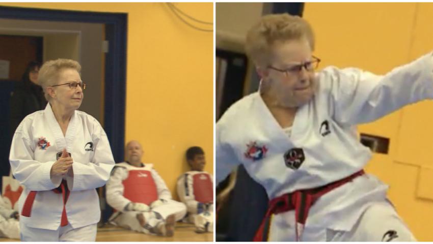 Foto: Video! La 72 de ani a obținut centura neagră la taekwondo