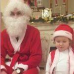 Foto: Video. Fiica Lorenei Bogza i-a spus o poezie lui Moș Crăciun