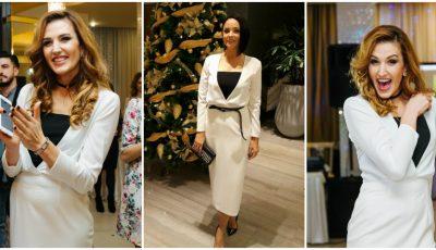 Tatiana Heghea și Andreea Marin în rochii identice