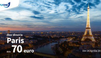Zboară la Paris, la Charles de Gaulle cu Fly One, cu doar 70 de euro!