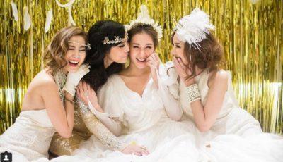 Această mireasă a purtat 6 rochii diferite la nuntă