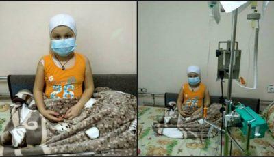 O fetiță bolnavă de cancer roagă cu disperare să o ajutăm!