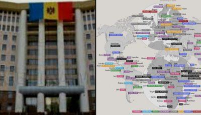 Harta care arată la ce este mai bună fiecare țară a lumii! Republica Moldova nu se află pe hartă