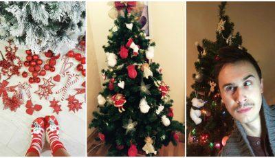 Brazii vedetelor pe rețelele de socializare! Vezi cum au ales să decoreze pomul de Crăciun