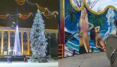 Un carusel montat recent în PMAN, lângă Pomul de Crăciun, scandalizează opinia publică!