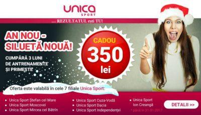 Doar în Ianuarie! Unica Sport îți oferă 350 lei CADOU