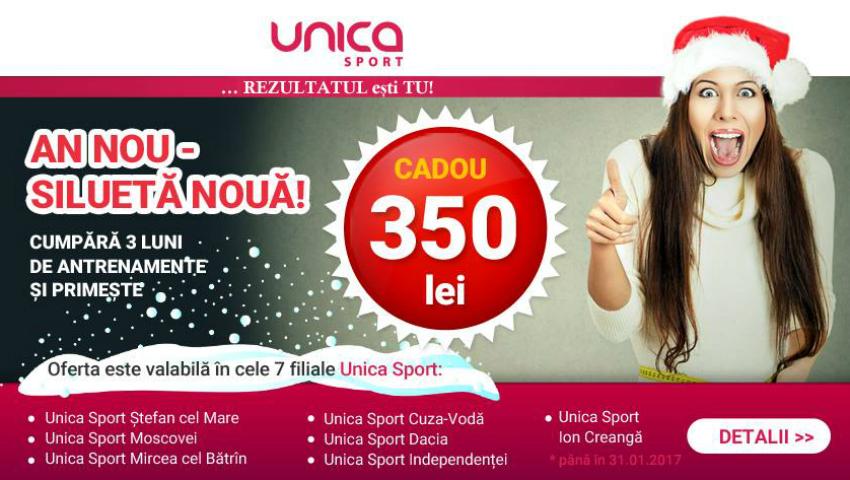 Foto: Doar în Ianuarie! Unica Sport îți oferă 350 lei CADOU