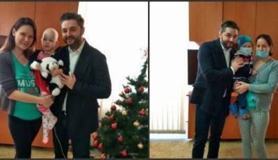 Adrian Ursu a cântat de ziua unei fetițe internate la Institutul Oncologic