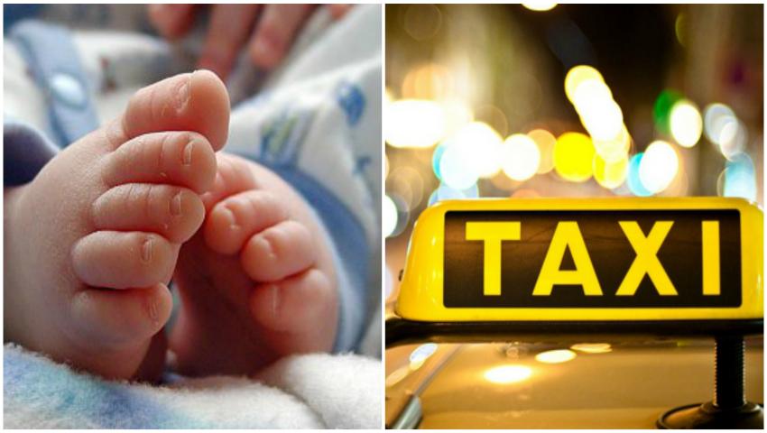 Foto: O gravidă din Ungheni nu a mai apucat să ajungă la spital și a născut în taxi, iar șoferul a asistat nașterea