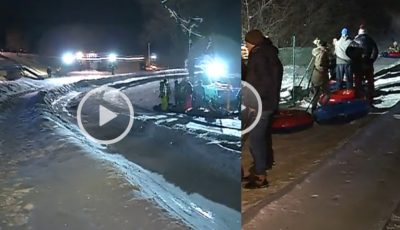 Distracție pe zăpadă! Pârtia de la Dănceni a adunat zeci de tineri la săniuș și multă mișcare în aer liber