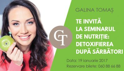 Galina Tomaș: Detoxifierea după sărbători