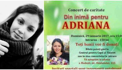 Vedetele s-au mobilizat pentru a o ajuta pe Adriana Proca, fetița bolnavă de leucemie. Vino și tu la concertul caritabil!