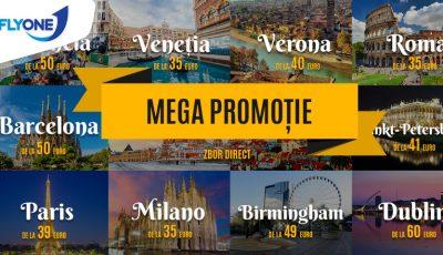 Mega Promoție Fly One! Zboară de la doar 35 euro spre Europa și Rusia!