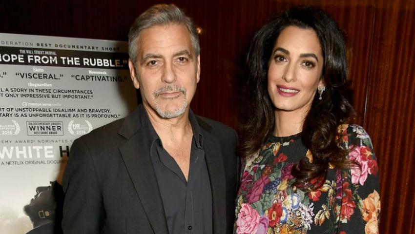 Foto: Amal este însărcinată. Burtica o dă de gol