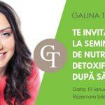 Foto: Nu știi cum să faci o detoxifiere? Vino la seminarul Galinei Tomaș