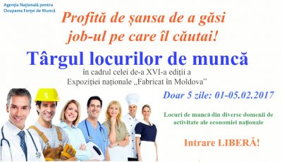 Vrei să obții un loc de muncă sau să găsești unul mai atractiv? Vino la Târgul locurilor de muncă