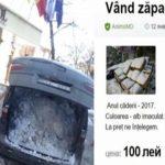 Foto: Un moldovean vinde zăpadă! A pus anunțul pe internet